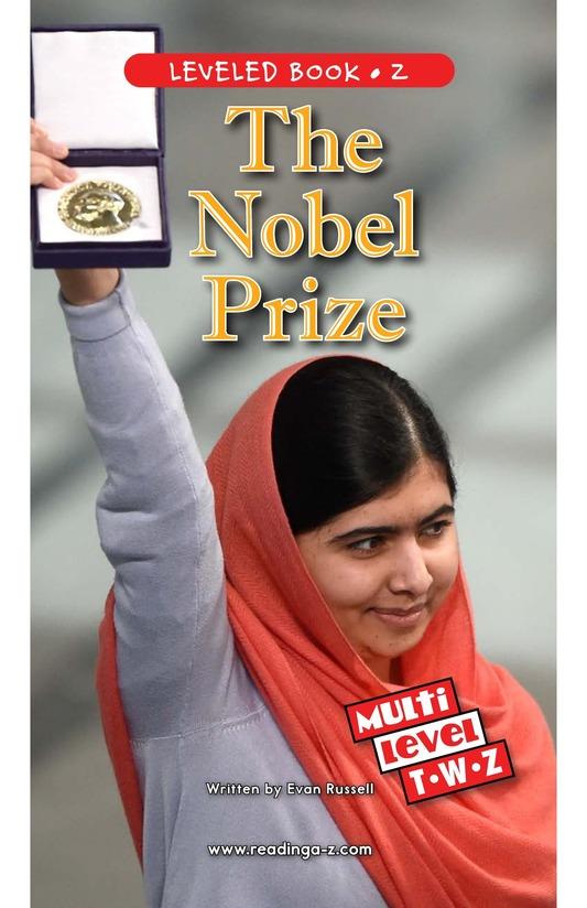 Book Preview For The Nobel Prize Page 0