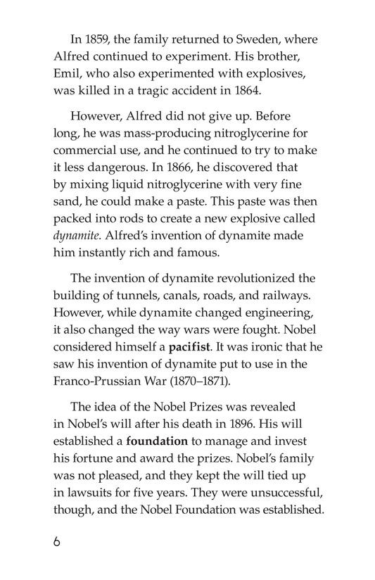 Book Preview For The Nobel Prize Page 6