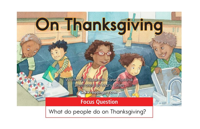 Book Preview For On Thanksgiving Page 1