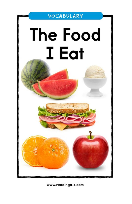 Book Preview For The Food I Eat Page 1