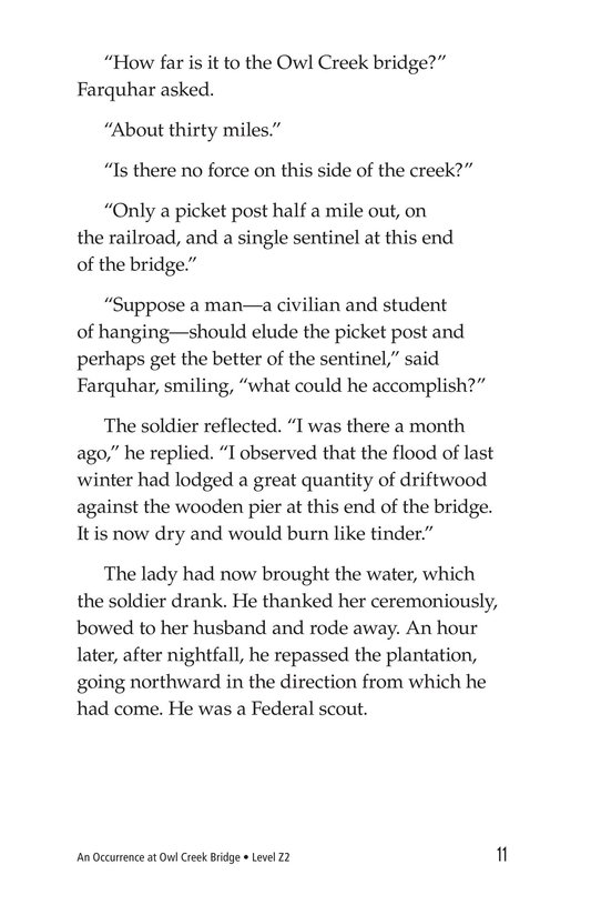 Book Preview For An Occurrence at Owl Creek Bridge Page 11