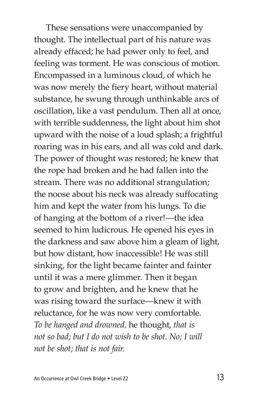 Book Preview For An Occurrence at Owl Creek Bridge Page 13