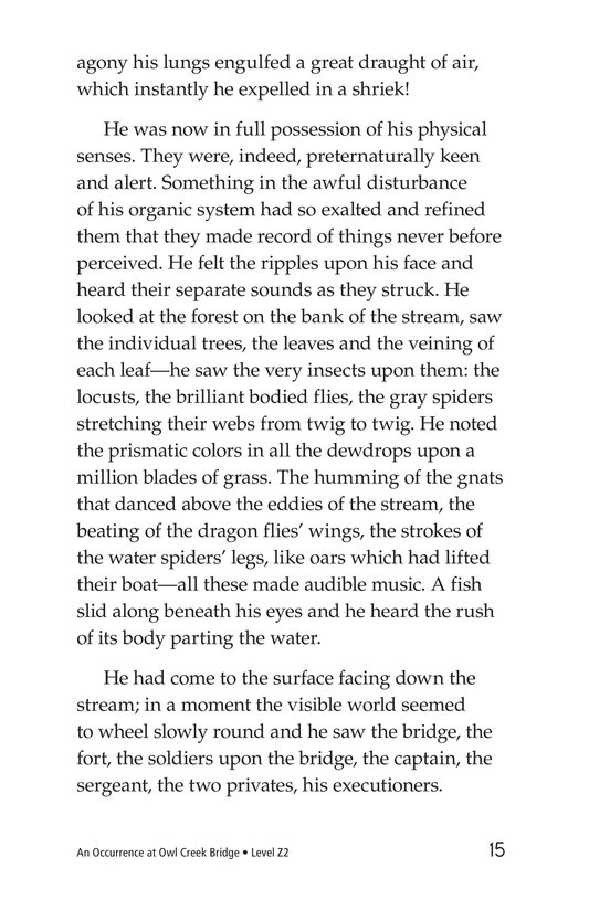 Book Preview For An Occurrence at Owl Creek Bridge Page 15