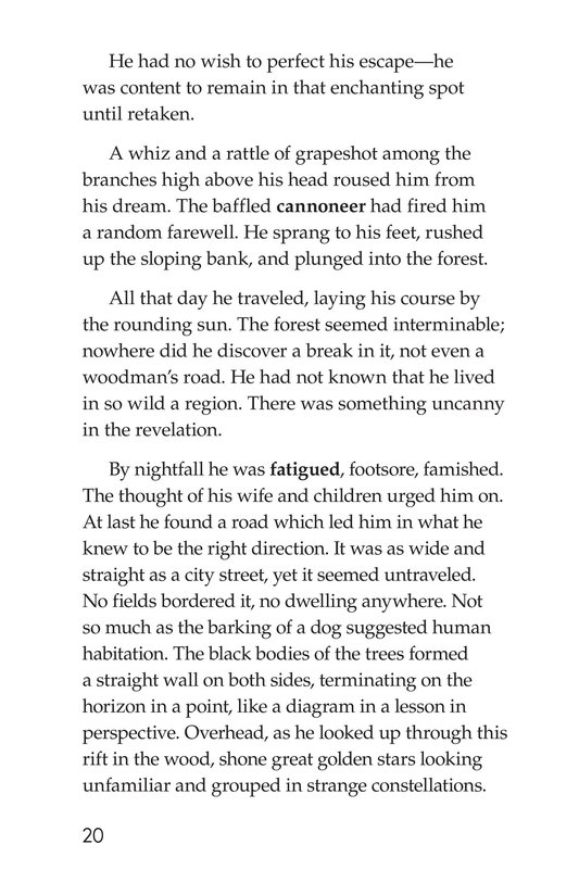 Book Preview For An Occurrence at Owl Creek Bridge Page 20