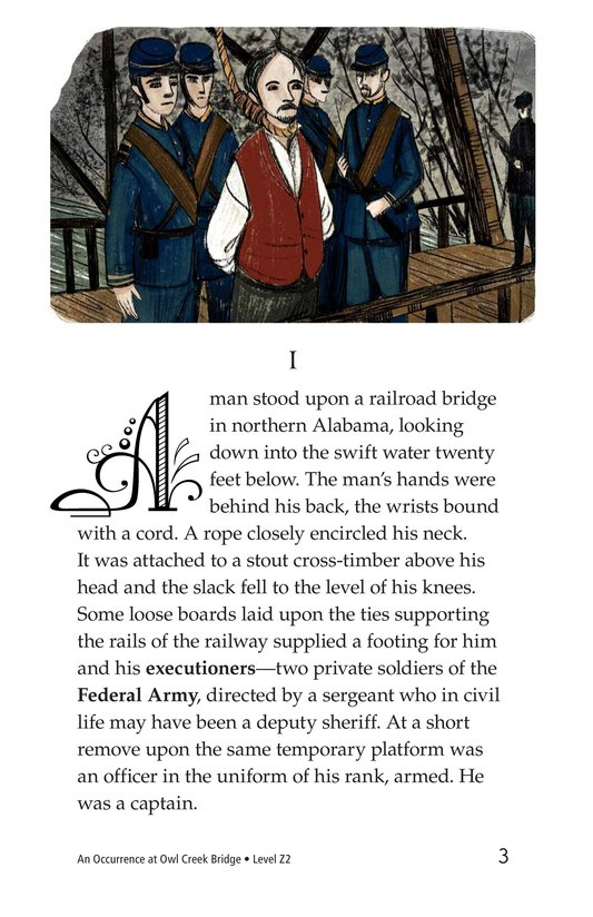 Book Preview For An Occurrence at Owl Creek Bridge Page 3