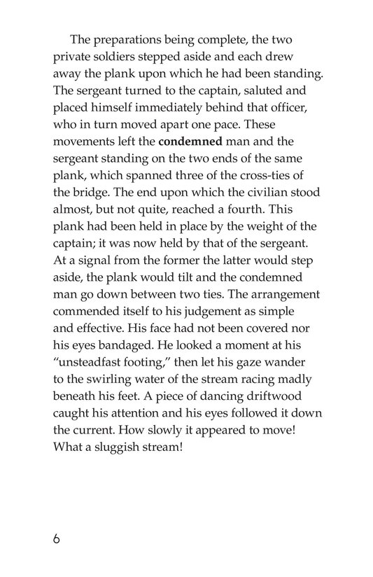 Book Preview For An Occurrence at Owl Creek Bridge Page 6