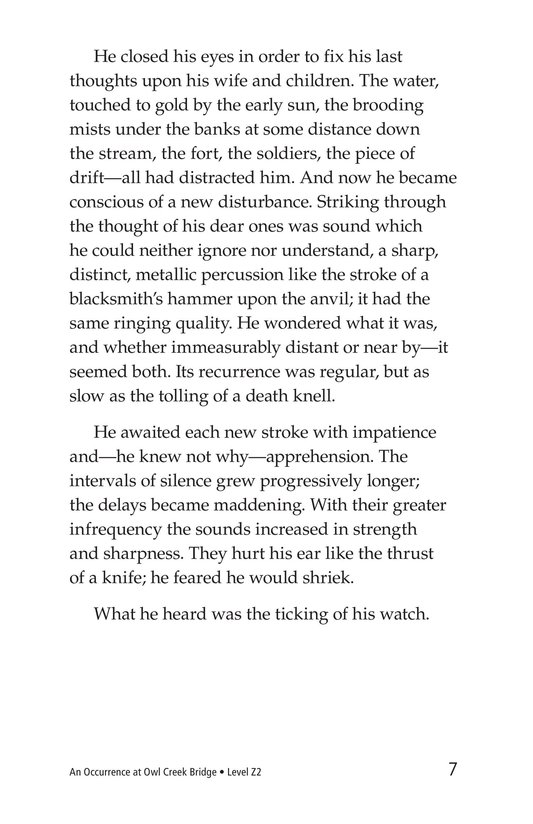 Book Preview For An Occurrence at Owl Creek Bridge Page 7