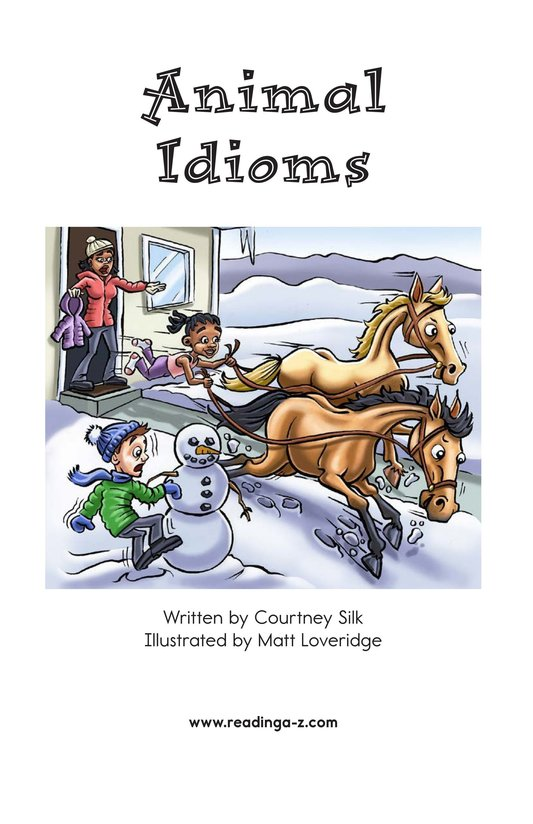 Book Preview For Animal Idioms Page 2