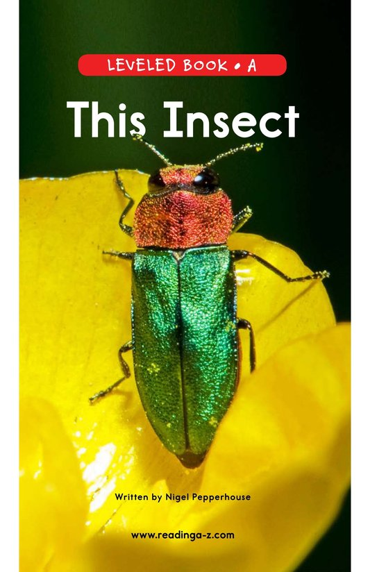 Book Preview For This Insect Page 0