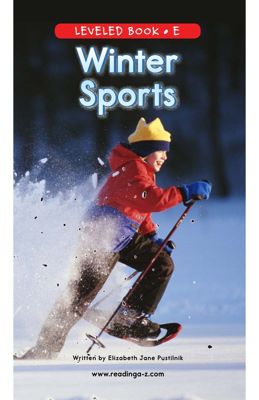 Book Preview For Winter Sports Page 0