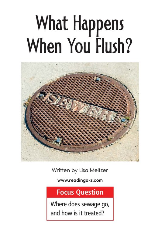 Book Preview For What Happens When You Flush? Page 1