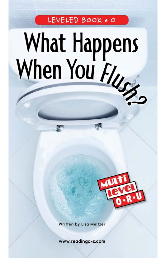 Book Preview For What Happens When You Flush? Page 0