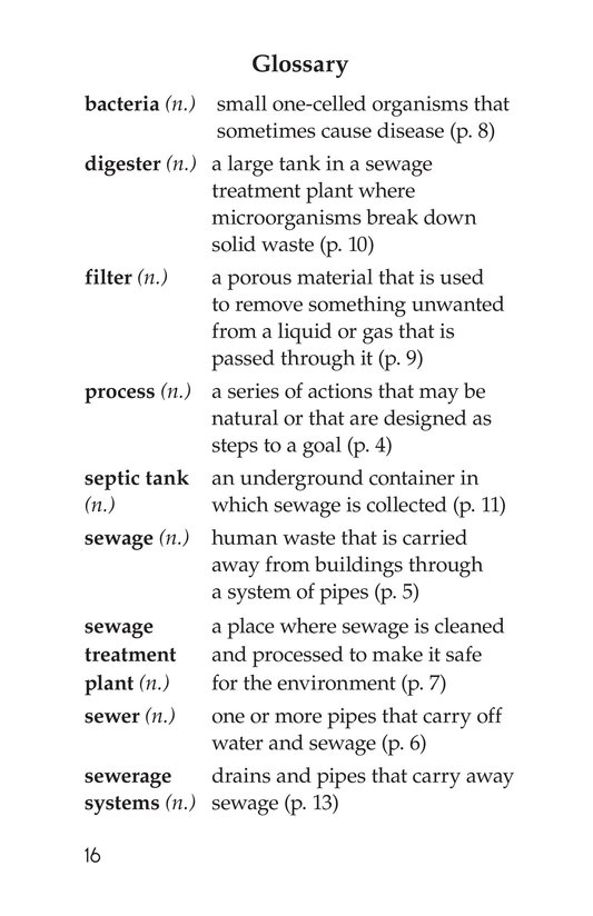 Book Preview For What Happens When You Flush? Page 16