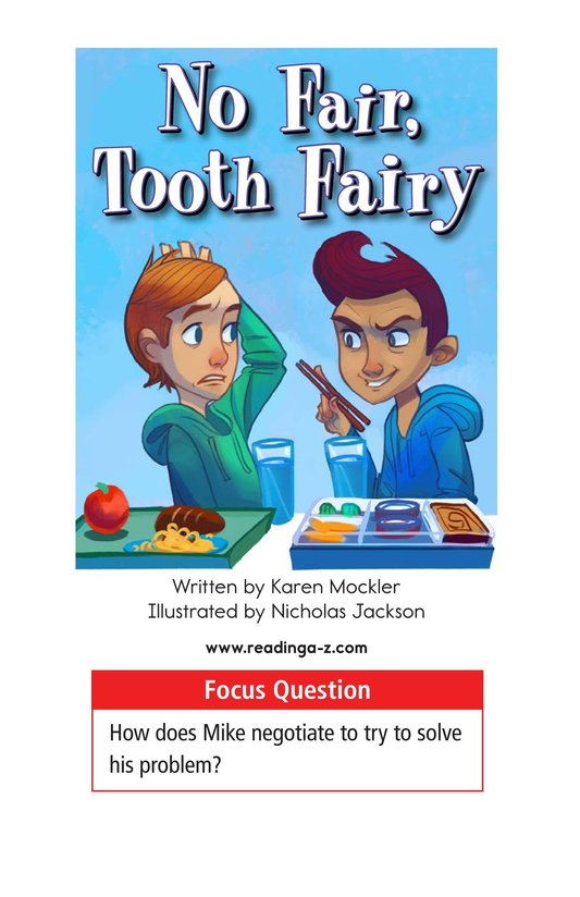 Book Preview For Book 5: No Fair, Tooth Fairy Page 1