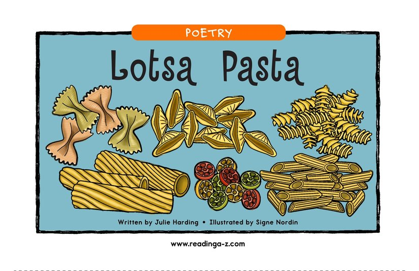Book Preview For Lotsa Pasta Page 1