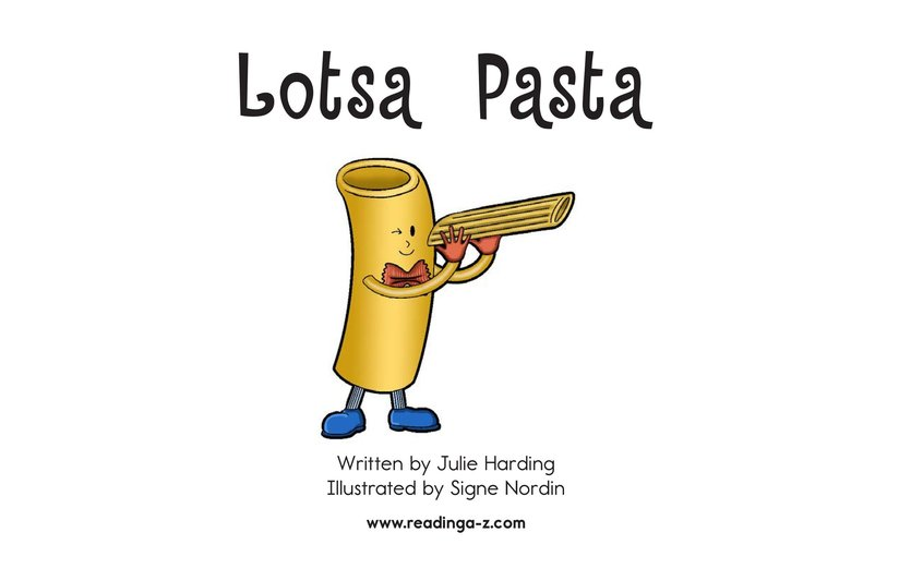 Book Preview For Lotsa Pasta Page 2