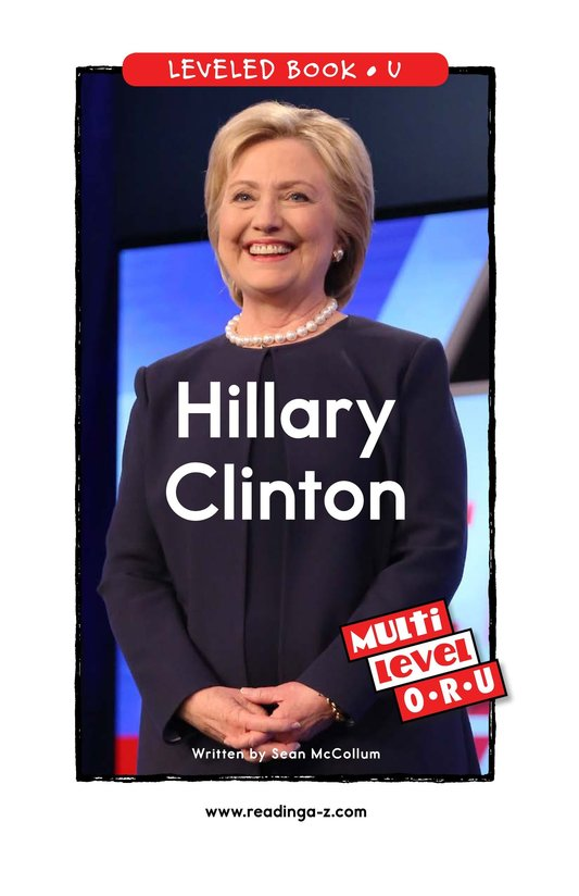 Book Preview For Hillary Clinton Page 0