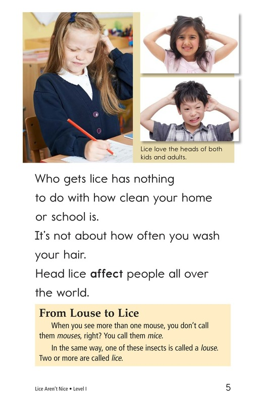 Book Preview For Lice Aren't Nice Page 5