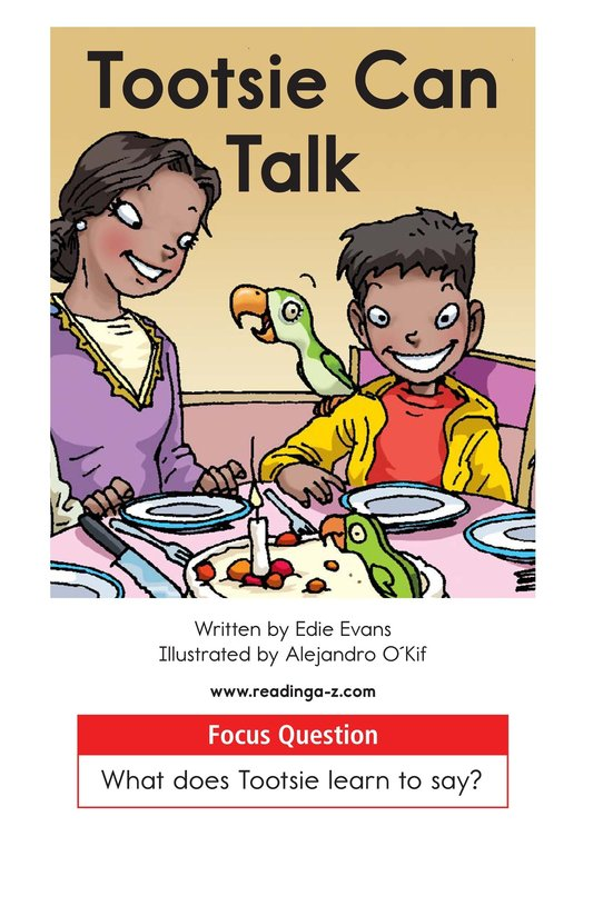 Book Preview For Tootsie Can Talk Page 1