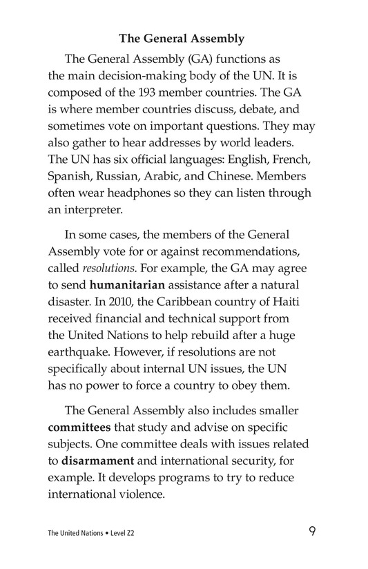 Book Preview For The United Nations Page 9