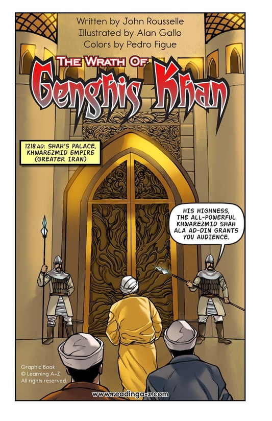 Book Preview For The Wrath of Genghis Khan Page 2