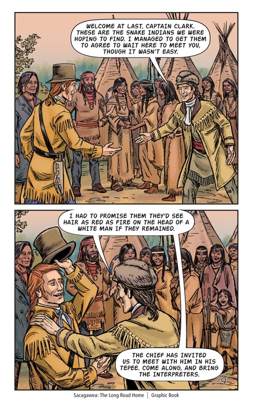 Book Preview For Sacagawea: The Long Road Home Page 10