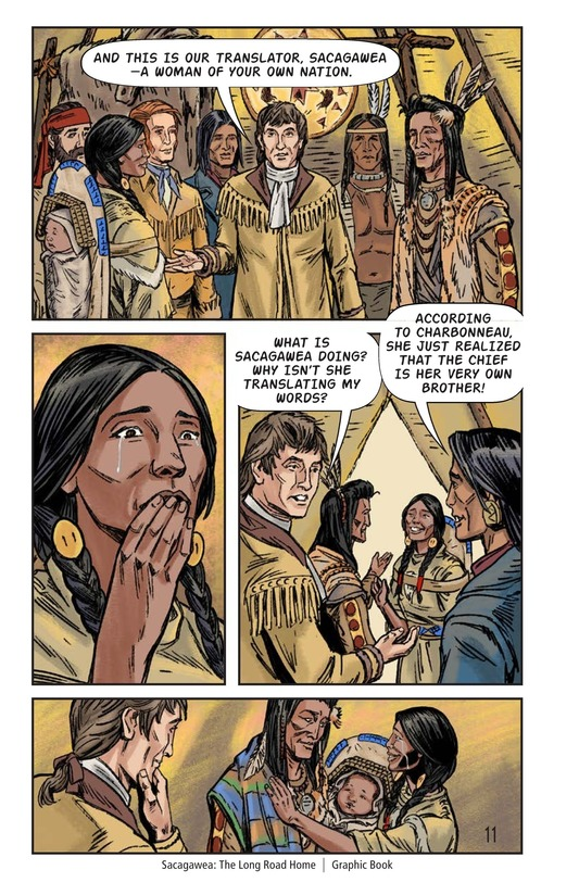 Book Preview For Sacagawea: The Long Road Home Page 12