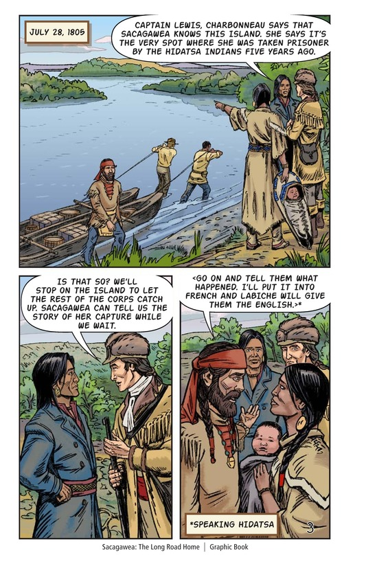 Book Preview For Sacagawea: The Long Road Home Page 4