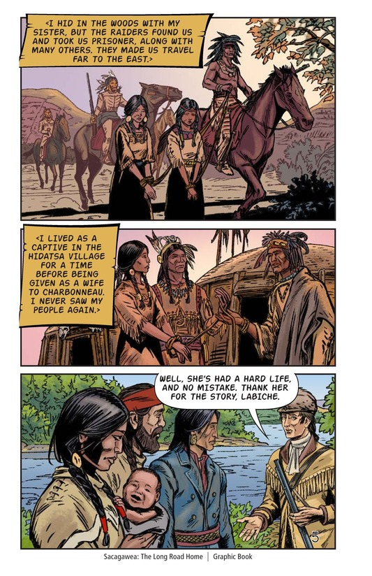Book Preview For Sacagawea: The Long Road Home Page 6