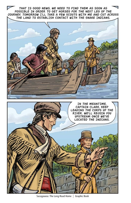 Book Preview For Sacagawea: The Long Road Home Page 8