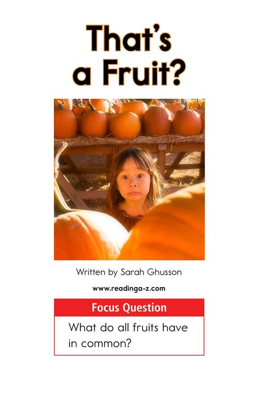 Book Preview For That's a Fruit? Page 1