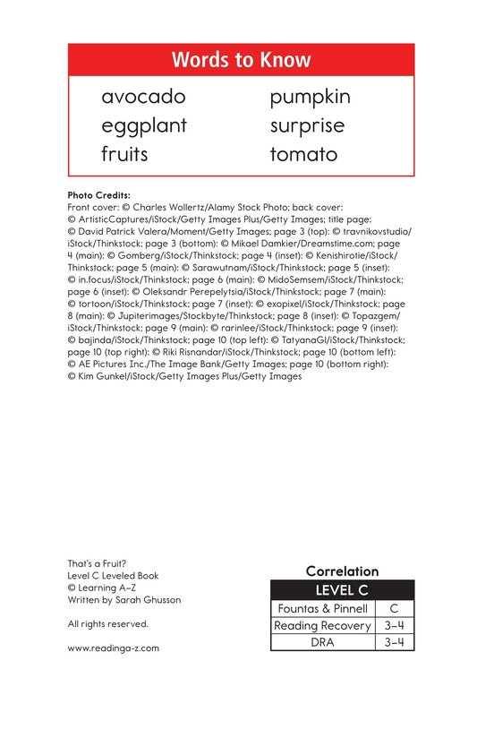 Book Preview For That's a Fruit? Page 2