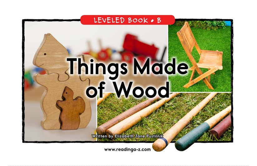 Book Preview For Things Made of Wood Page 0