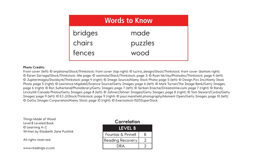 Book Preview For Things Made of Wood Page 2