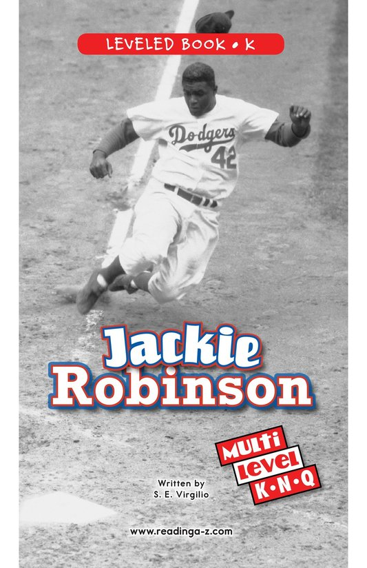 Book Preview For Jackie Robinson Page 0