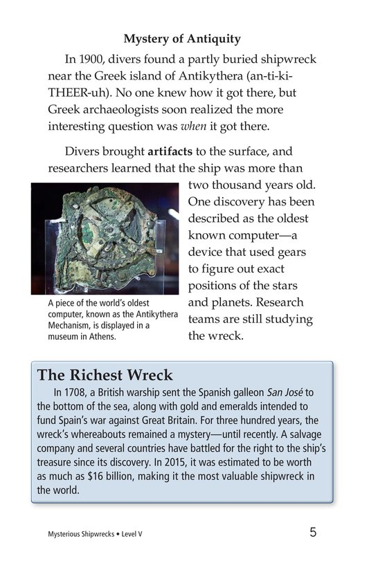 Book Preview For Mysterious Shipwrecks Page 5