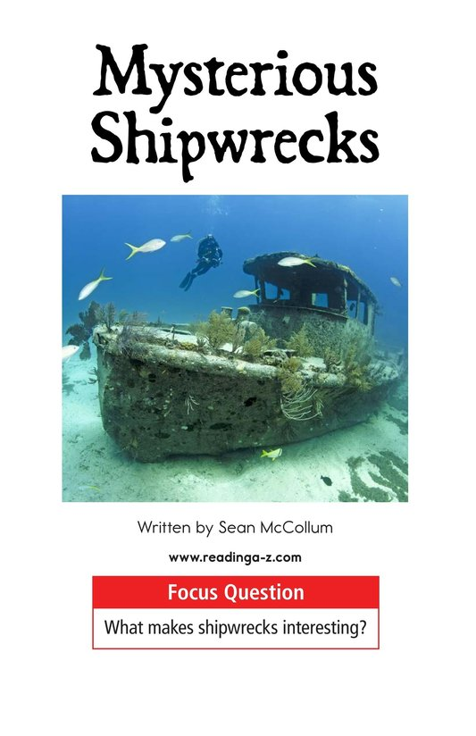 Book Preview For Mysterious Shipwrecks Page 1
