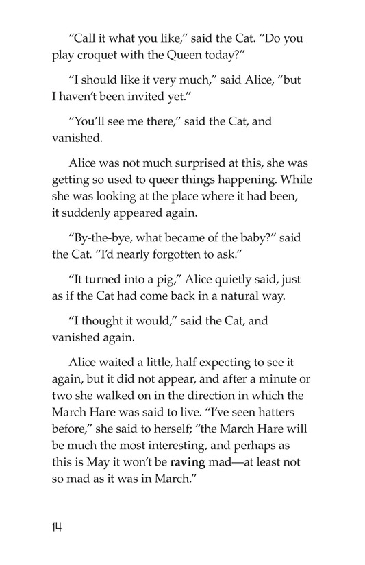 Book Preview For Alice's Adventures in Wonderland (Part 4) Page 14