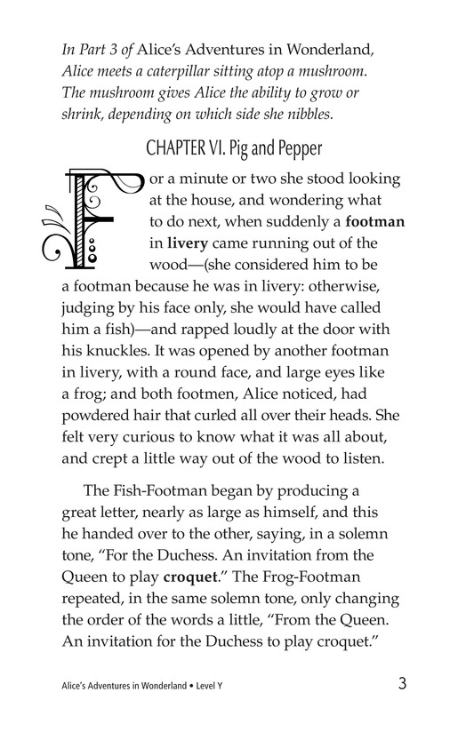 Book Preview For Alice's Adventures in Wonderland (Part 4) Page 3