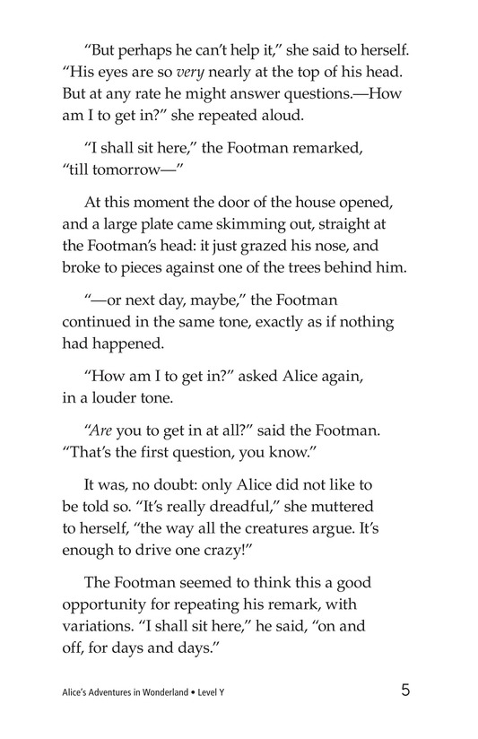 Book Preview For Alice's Adventures in Wonderland (Part 4) Page 5