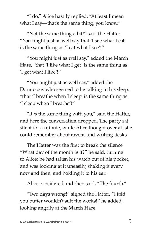 Book Preview For Alice's Adventures in Wonderland (Part 5) Page 5