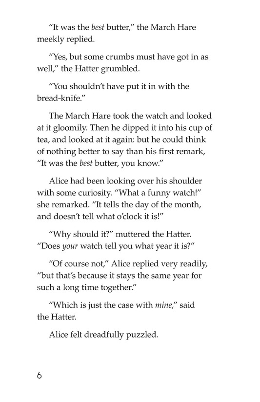 Book Preview For Alice's Adventures in Wonderland (Part 5) Page 6