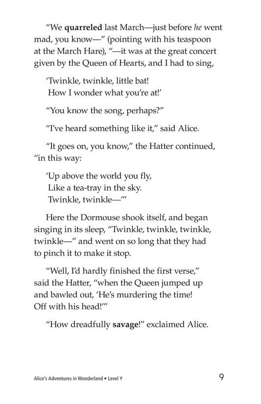 Book Preview For Alice's Adventures in Wonderland (Part 5) Page 9