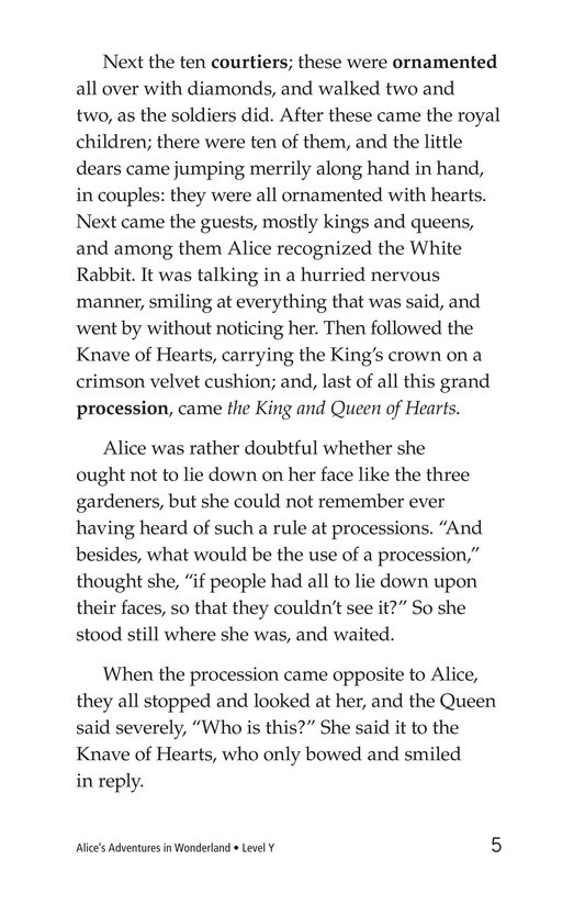 Book Preview For Alice's Adventures in Wonderland (Part 6) Page 5