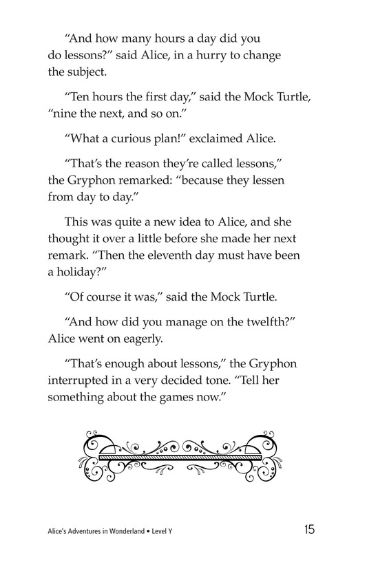 Book Preview For Alice's Adventures in Wonderland (Part 7) Page 15