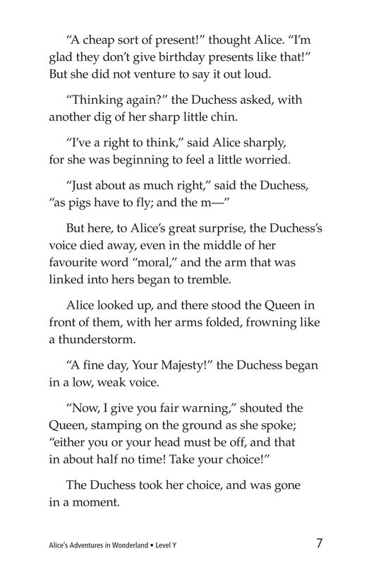 Book Preview For Alice's Adventures in Wonderland (Part 7) Page 7