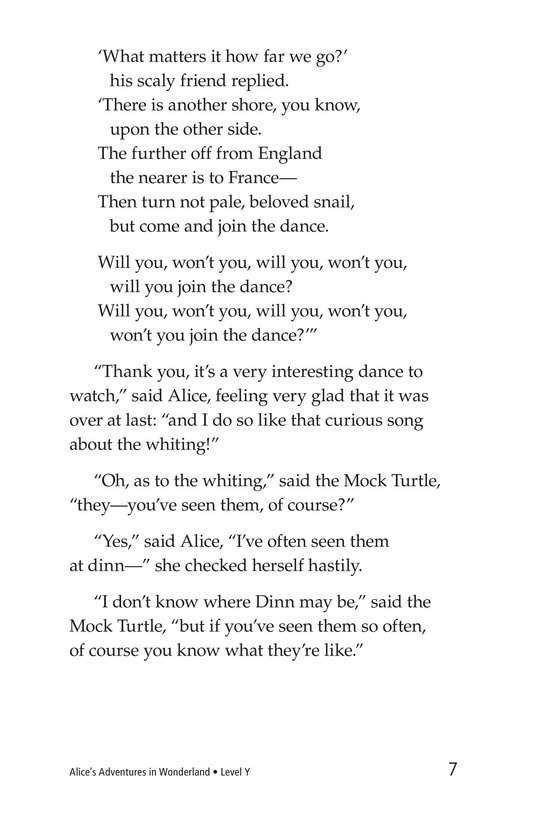 Book Preview For Alice's Adventures in Wonderland (Part 8) Page 7