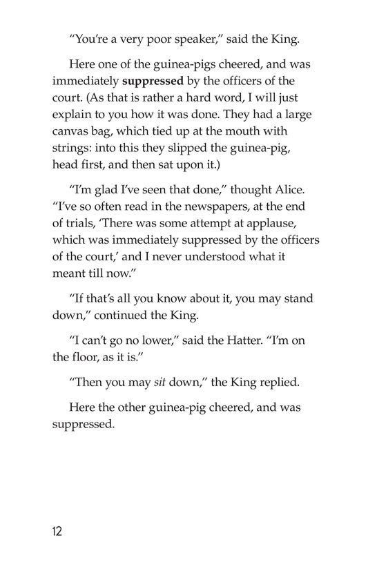 Book Preview For Alice's Adventures in Wonderland (Part 9) Page 12