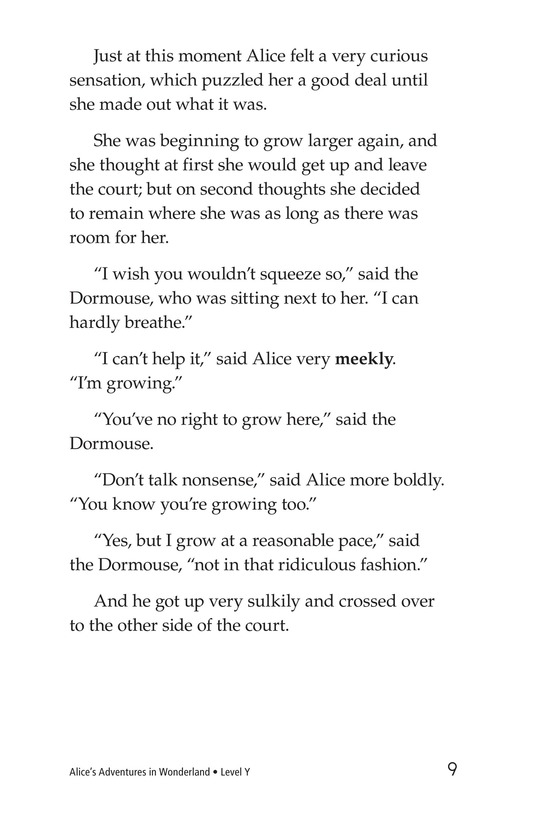Book Preview For Alice's Adventures in Wonderland (Part 9) Page 9