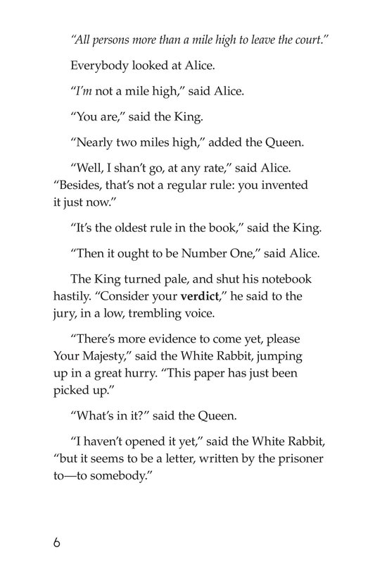 Book Preview For Alice's Adventures in Wonderland (Part 10) Page 6